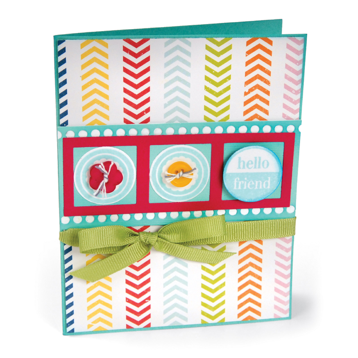 Sizzix Friendly Phrases Framelits Dies with Stamps by Stephanie Barnard, 2-Pack Multi-Colored