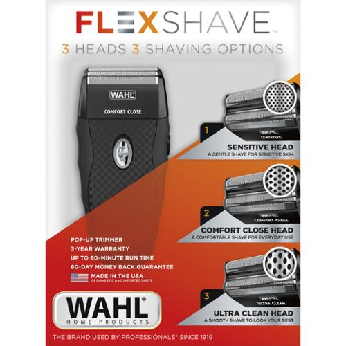 Wahl 7367-300 9pc Flexshave Rechargeable Shaver