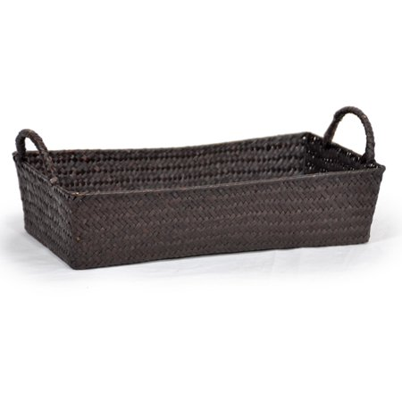 Alexa Slim Rectangular Tray Basket with Handles -