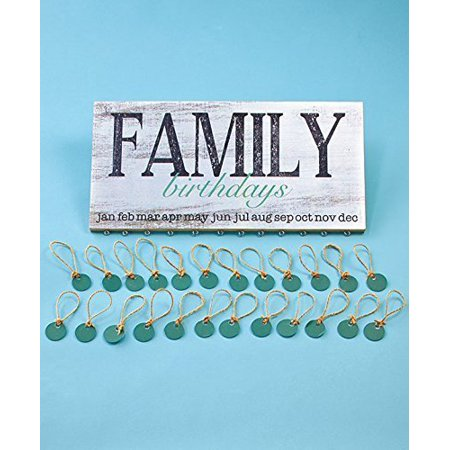 Family Birthday Reminder Plaque with 24 tags to Personalize Decorative (Decorative Kitchen Plaque)