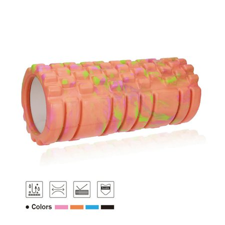 JBM Foam Roller (4 Colors) Muscle Roller High Density Deep Tissue for Relieving Muscle Tension Soreness Yoga Roller Muscle Stretch Physical Therapy Myofascial Release (Orange) ()