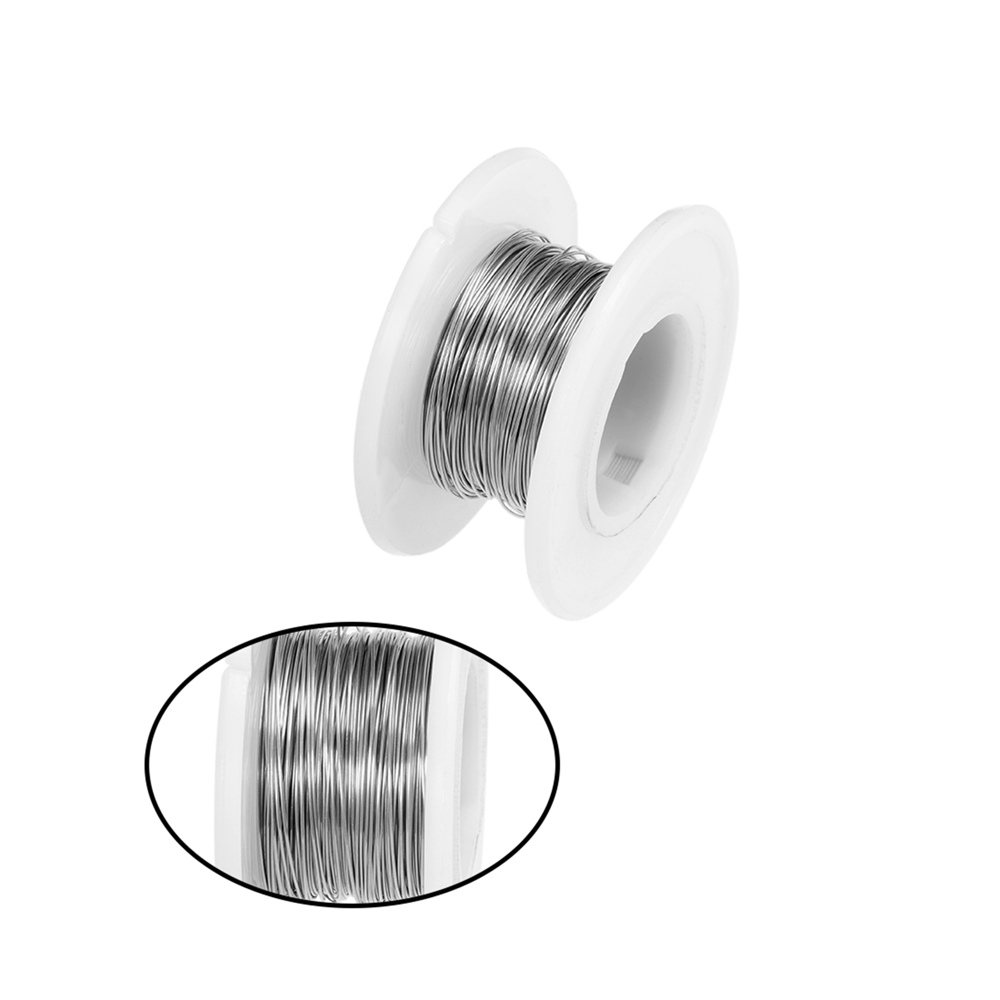 0.35mm 28AWG Heating Resistor Wire Nichrome Resistance Wires for Heating Elements 32.8ft - image 2 de 4