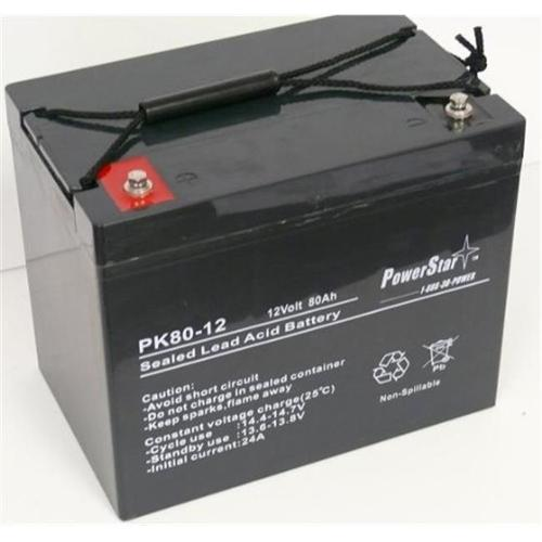 PowerStar PS12-80-16 12V, 70Ah Group 24 Battery Scooter W...