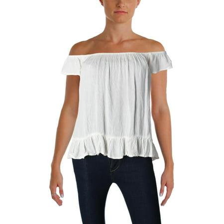 Denim & Supply Ralph Lauren Womens Crinkled Off-The-Shoulder Casual (Ralph Lauren Women Models)
