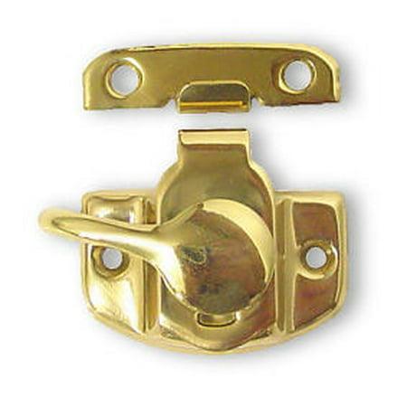 Bright Brass Sash Lock (Jimmi Proof Sash Cam Lock , Solid Brass LQ-B15503D-PL-C )