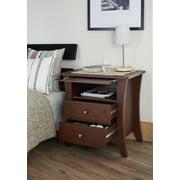 Urbal Furnishings Carla 2-Drawer Open Shelf Night Stand