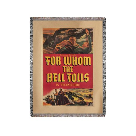 For Whom The Bell Tolls Vintage Poster Usa C  1943  60X80 Woven Chenille Yarn Blanket