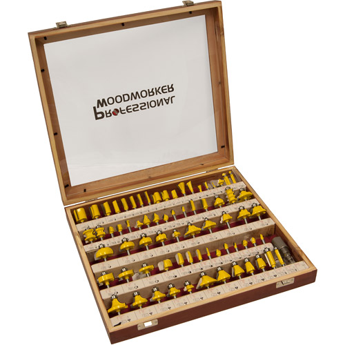 Professional Woodworker 75-Piece Router Bit Set