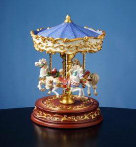 Heritage 3 Horse Rotating Carousel Figurine Multi-Colored