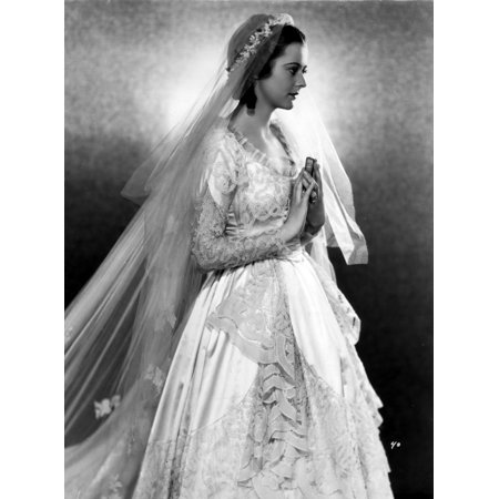 Heather Angel In An Embroidered Bridal Gown With Veil Photo Print