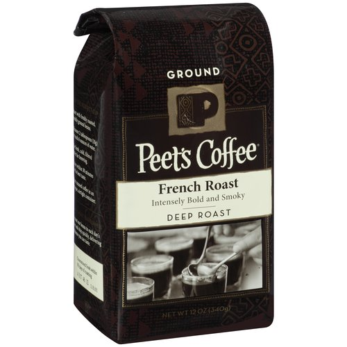 Peet's Coffee Deep Roast French Roast Ground Coffee, 12 oz