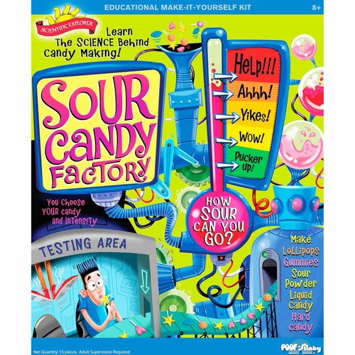 POOF-Slinky 0SA256 Scientific Explorer Sour Candy Factory Kit, 6 Activities