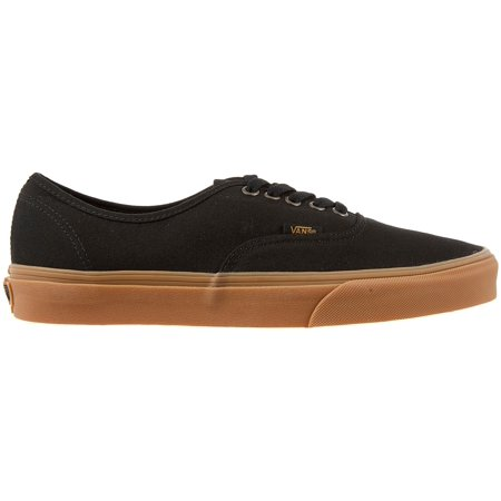 Vans Men's Authentic Shoes (Black/Gum, 8.0)
