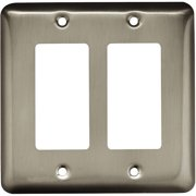 Brainerd Rounded Corner Double Decorator Wall Plate, Available in Multiple Colors