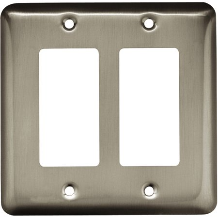Brainerd Rounded Corner Double Decorator Wall Plate, Available in Multiple (Round Decorator)