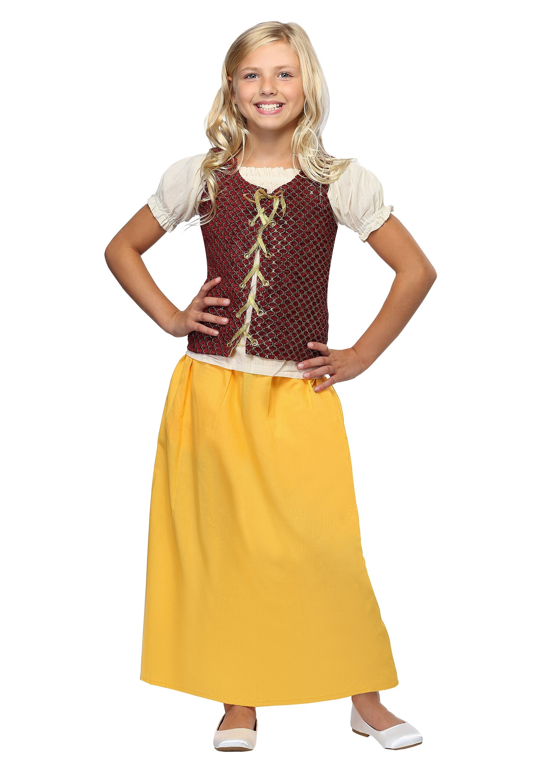 d46f9d61c Girls Red Peasant Dress - image 1 of 1 zoomed image