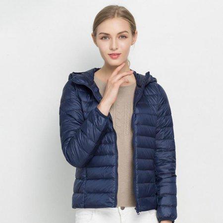 211a2238c U-MAX Women Ultra Light Down Jacket Hooded Winter Duck Down Jackets Women  Slim Long Sleeve Parka Zipper Coats 2017 Pockets Solid