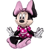 Sitting Minnie Mouse Multi Balloon Inflate with Air 19 inch Tall for Centerpiece