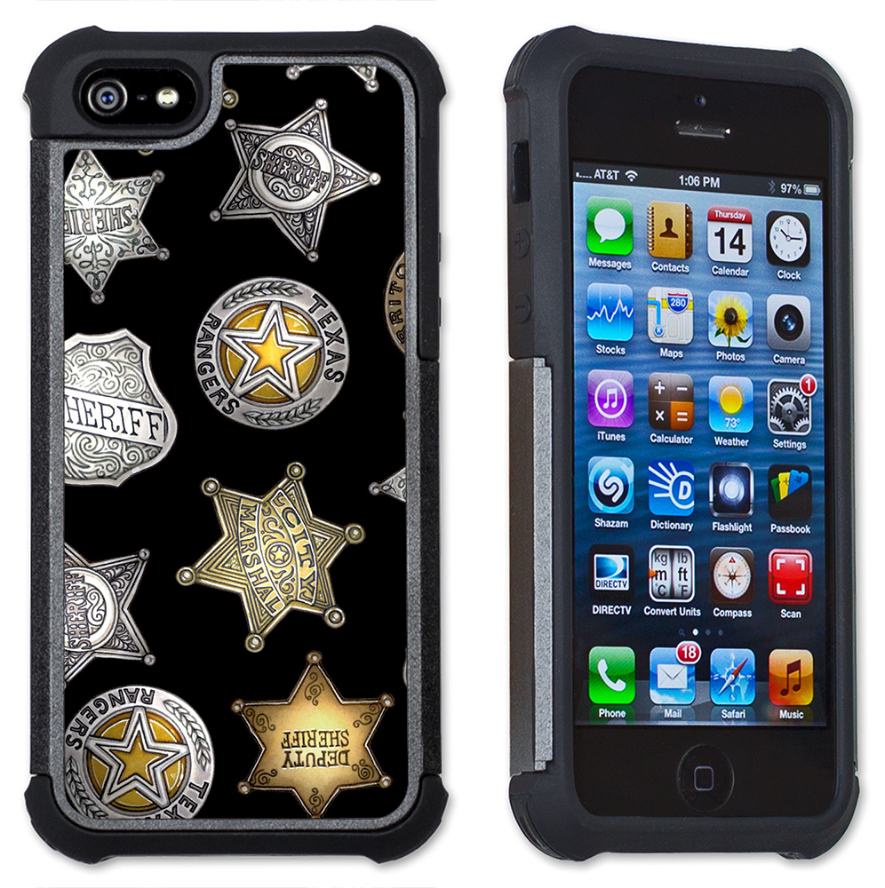 Badges (black) - Maximum Protection Case / Cell Phone Cover with Cushioned Corners for iPhone 6 & iPhone 6S