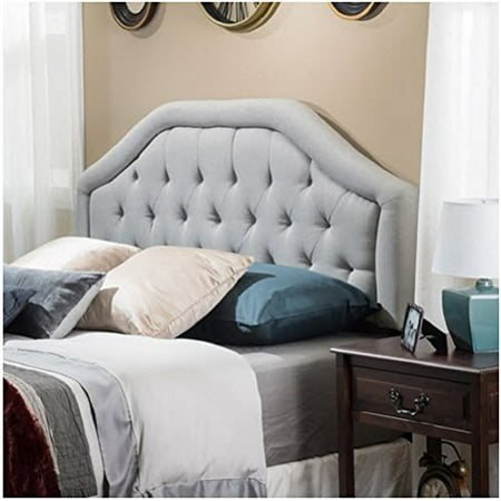Angelica Button Diamond Tufted Upholstered Suede Iron
