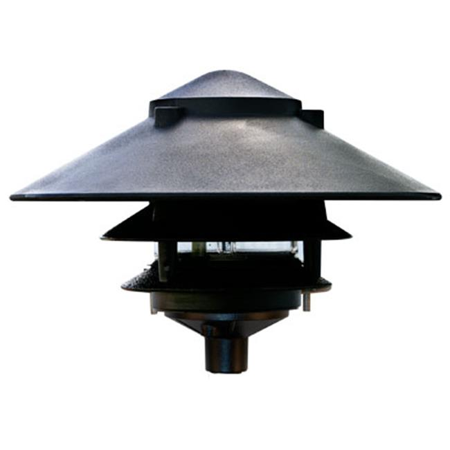 Dabmar Lighting D5300-B Cast Aluminum Three Tier Pagoda Light, Black