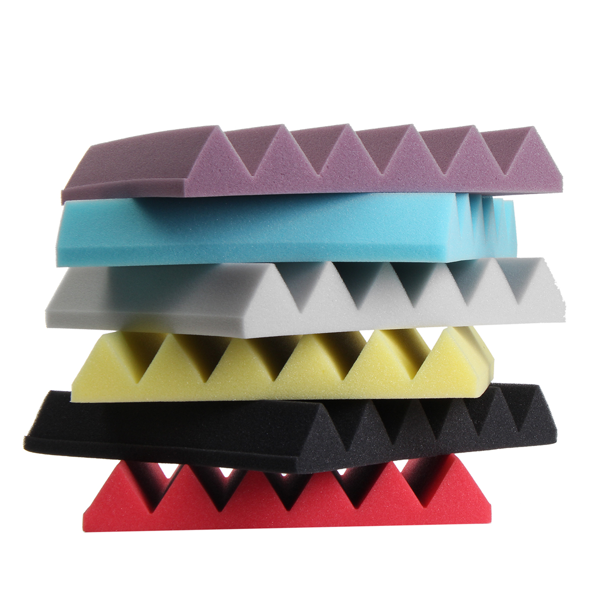 "Flame Retardance 12*12*2"" Studio Acoustic Foam Panel Tile Sound Absorption Proofing Wedge"