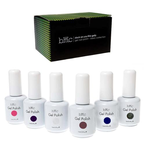 BMC 6pc Set UV/LED Gel Lacquer Nail Art Polish Manicure Collection-Color: BASICS