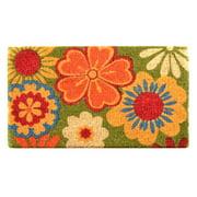 No Trax Summer Flower Coir Door Mat
