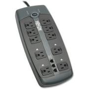 Tripp Lite Surge Protector 120V 10 Outlet RJ11 8' Cord 2395 Joule - 10 x NEMA 5-15R - 1800 VA - 2395 J - 120 V AC Input - 120 V AC Output - Fax/Modem/Phone