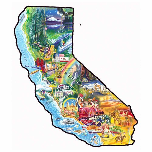 Sun and Fun California Shaped Puzzle