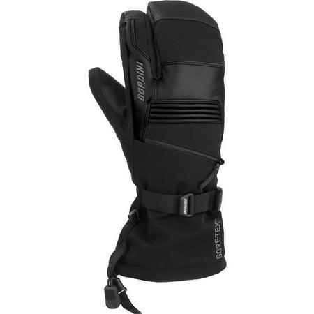 Gordini 4M1071-B-M Mens Gore-Tex Storm Trooper Three Finger Waterproof Mittens Gloves, Black - Medium Gore Tex Under Glove