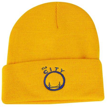 Nba Golden State Warriors Cuffed Knit Beanie Winter Yellow Toque Skully Sport