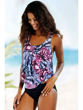 7de08182b493f Product Image Cali Chic Cali Chic Juniors  Swimsuit Celebrity Wild Beach  Ethnic Print 2pcs Tankini Swimsuit