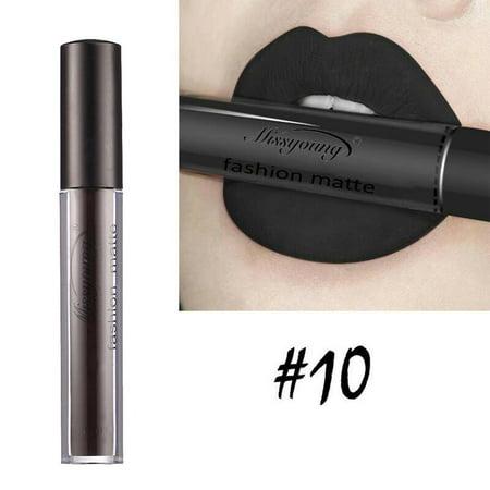Waterproof Makeup Long Lasting Matte Lipstick Liquid Pencil Lip Gloss 12 Colors HFON (Long Lasting Halloween Makeup)