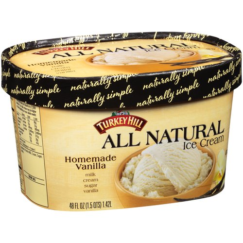 Turkey Hill Homemade Vanilla All Natural Ice Cream, 48 fl oz