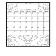 AlaBoard Grey Damask Magnetic Dry Erase Monthly Calendar