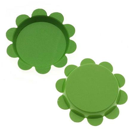 New Green Apple Flower Bottle Caps Craft Scrapbook Jewelry No Liners 25mm (24) Scrapbooking Bottle Cap
