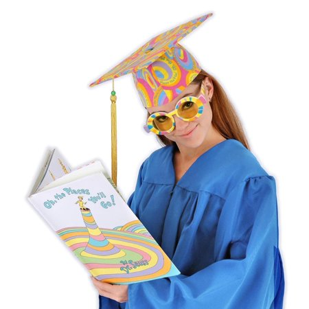 Dr. Seuss Oh The Places You Will Go Costume Graduation Cap Adult One Size - Dr Seuss Character Costume