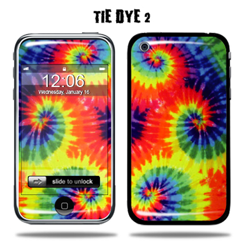 Mightyskins Protective Vinyl Skin Decal Cover for Apple iPhone 3G/3GS 8GB 16GB 32GB Cell Phone wrap sticker skins - Tie Dye 2