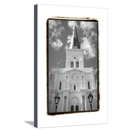 St. Louis Cathedral, Jackson Square I Stretched Canvas Print Wall ...