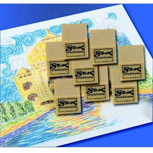 "Sax Artgum Block Shape, General Purpose Eraser, 1"" x 1"" x 1"", Brown, Pack of 24"