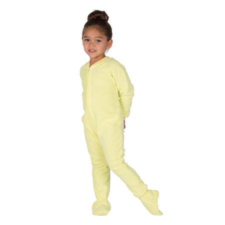 9d7d27e215a5 Footed Pajamas - Mellow Yellow Toddler Fleece Onesie - Walmart.com