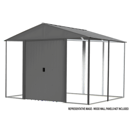 Steel Hybrid Shed Kit 10 x 12 ft. Galvanized Anthracite