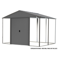 Steel Hybrid Shed Kit 8 x 8 ft. Galvanized Anthracite