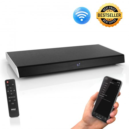 PYLE PSBV630HDBT - Bluetooth HD Tabletop TV Sound Base Soundbar Digital Speaker System, with HDMI Connection (Soundbar Hd Tv)