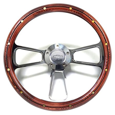 1974 - 1994 Chevy C/K Series Pick-Up Truck Wood Steering Wheel & Billet Adapter Billet Steering Wheel Adapter