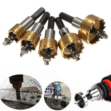 5PCS 16-30mm/ 0.63-1.18 inches Tooth HSS Stainless Steel Hole Saw Drill Bit Set with 5 Wrench for Wood Metal Alloy with 5 Wrenches