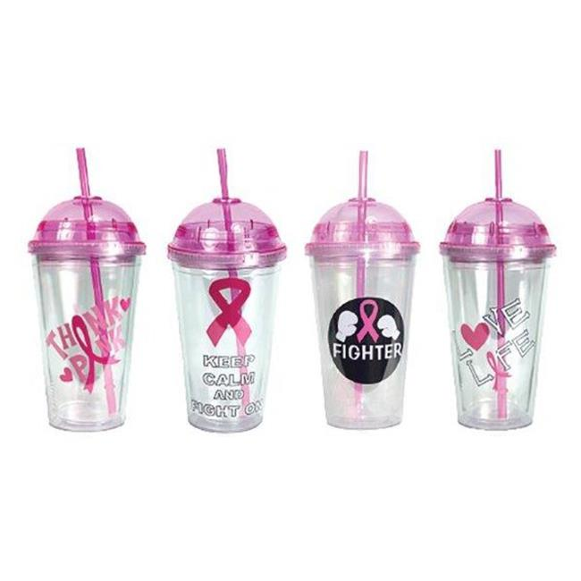 Eros G01-CUP016 Insulated Travel Cups with Breast Cancer ...
