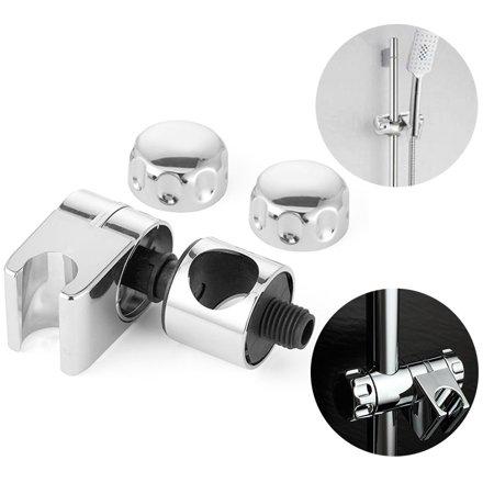 25mm ABS Chrome Plated Adjustable Handheld Shower Holder Rail Head Bracket for Slide Bar Slider Clamp Bathroom