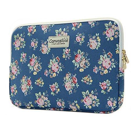 Canvaslove Laptop Sleeve13.3 Inch  Macbook Pro 13 Macbook Air 13 (Flower Blue) (Flower Laptop Bag)